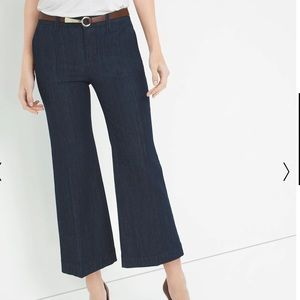 WHITE HOUSE/BLACK MARKET Wide Crop Trouser Jean